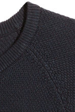 Premium cotton jumper - Dark blue - Men | H&M 3