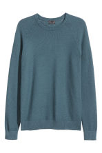 Premium cotton jumper - Pigeon blue - Men | H&M 2