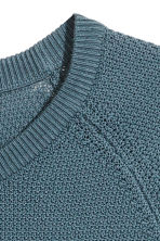 Premium cotton jumper - Pigeon blue - Men | H&M 3