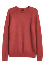 Premium cotton jumper - Rust red - Men | H&M CN 2