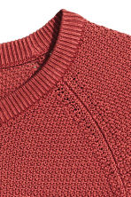 Premium cotton jumper - Rust red - Men | H&M 3