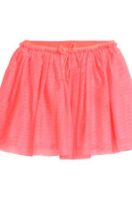 Tulle skirt with glitter - Neon pink -  | H&M 3