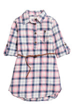 Shirt dress - Pink/Checked - Kids | H&M CN 2