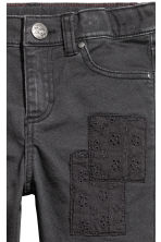Trousers with patches - Nearly black -  | H&M CN 4