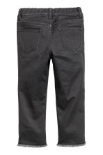 Trousers with patches - Nearly black -  | H&M CN 3