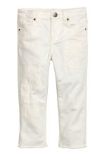 Trousers with patches - White -  | H&M 2