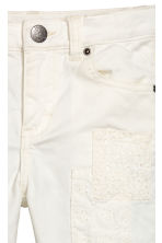 Trousers with patches - White -  | H&M 3