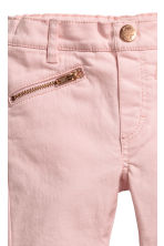 Biker treggings - Light pink -  | H&M 4