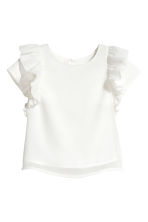 Top with frills - White/Glittery - Kids | H&M CN 2