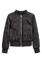 Padded bomber jacket - Black - Kids | H&M CN 2