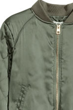 Padded bomber jacket - Khaki green - Kids | H&M 3