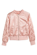 Padded bomber jacket - Powder pink - Kids | H&M CN 2