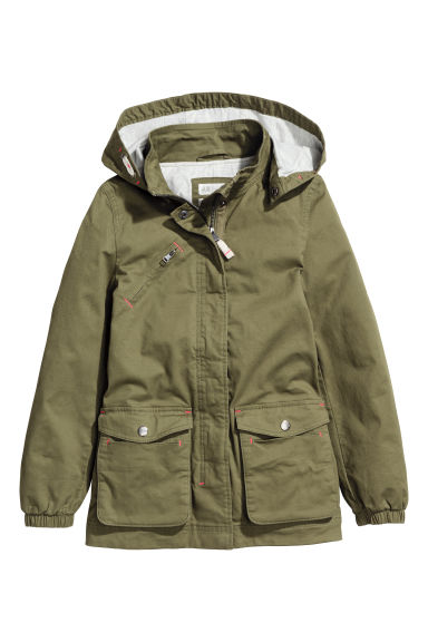 Cotton parka - Khaki green - Kids | H&M CA 1