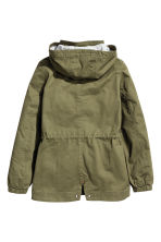 Cotton parka - Khaki green - Kids | H&M CA 2