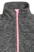 Marled fleece jacket - Dark grey marl -  | H&M 3