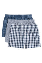 3件入四角褲 - Dark blue/Checked - Men | H&M 2