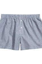 3件入四角褲 - Dark blue/Checked - Men | H&M 3