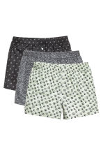 3-pack boxer shorts - Dark grey/Patterned - Men | H&M CN 2