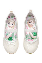 Glittery ballet pumps - White/Frozen - Kids | H&M 1