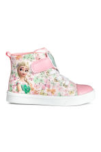 Hi-top trainers - Light pink/Frozen - Kids | H&M CN 1
