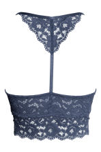 Lace bralette - Pigeon blue - Ladies | H&M CN 3