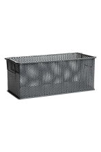 Metal storage basket - Anthracite grey - Home All | H&M CN 1