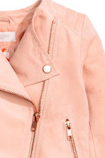 Biker jacket - Powder pink - Kids | H&M 3