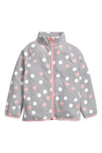 Fleece jacket - Grey/Spotted - Kids | H&M 2