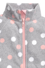 Fleece jacket - Grey/Spotted - Kids | H&M 3