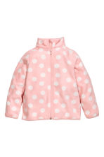 Fleece jacket - Light pink/Spotted - Kids | H&M CN 2
