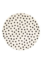 Round cotton rug - White/Spotted - Home All | H&M GB 1