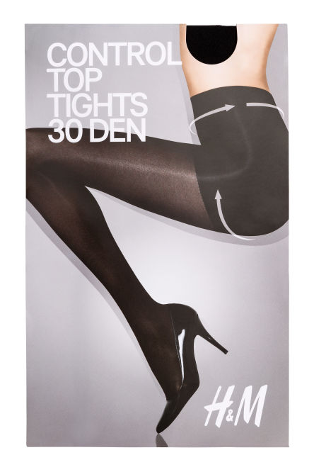 30 denier control top tights