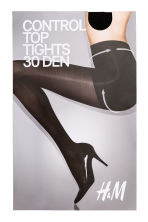 30 denier control top tights - Black - Ladies | H&M 2
