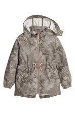 Cotton parka - Khaki green/Patterned - Kids | H&M CN 2