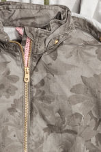 Cotton parka - Khaki green/Patterned - Kids | H&M CN 3