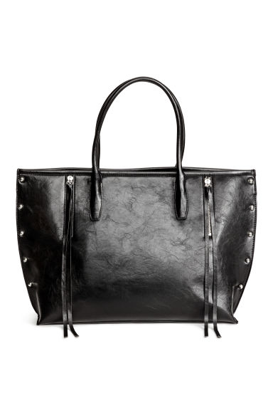 Shopper with studs - Black - Ladies | H&M CN 1