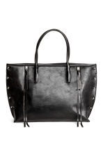 Shopper with studs - Black - Ladies | H&M 1