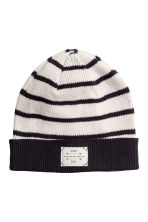 Cotton hat - Natural white/Striped - Kids | H&M 1
