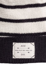 Cotton hat - Natural white/Striped - Kids | H&M CN 2
