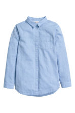 Cotton twill shirt - Light blue -  | H&M 2