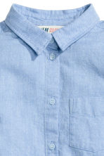 Cotton twill shirt - Light blue -  | H&M 3