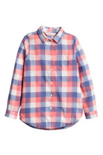 Cotton twill shirt - Coral/Checked -  | H&M CN 2