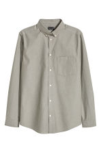 Premium cotton Oxford shirt - Mole - Men | H&M CN 2