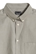Premium cotton Oxford shirt - Mole - Men | H&M CN 4