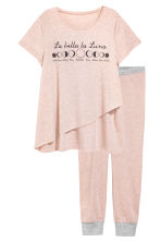 MAMA Nursing pyjamas - Old rose - Ladies | H&M 2