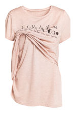 MAMA Nursing pyjamas - Old rose - Ladies | H&M CN 4