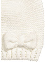 Knitted hat - White -  | H&M 2