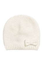 Knitted hat - White -  | H&M 1