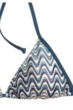 Triangle bikini top - Storm blue/White - Ladies | H&M 3