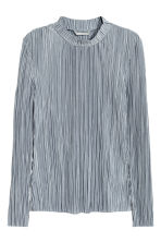 Long-sleeved top - Blue-grey - Ladies | H&M 2